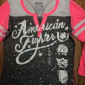 New American Fighter Y neck t-shirt